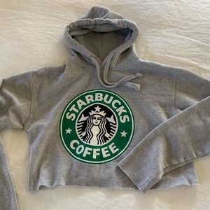 Other - 🟣 BOGO! Girls Cropped Starbucks Hoodie